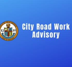 image: City Road Work Advisory
