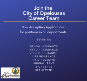 graphic: Join the City of Opelousas Career Team