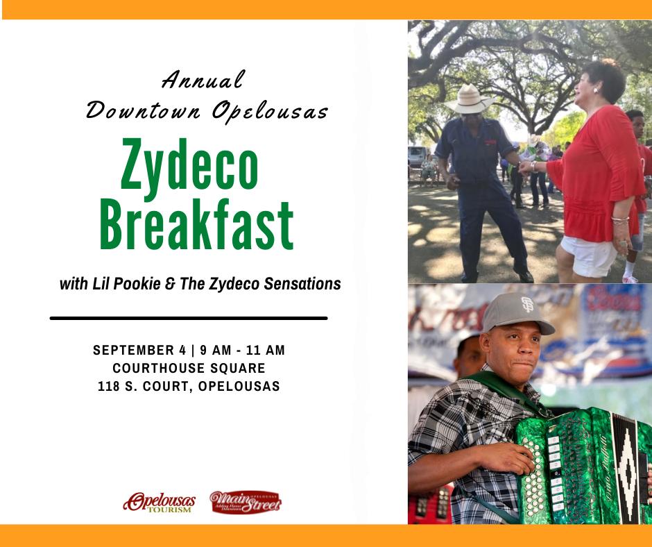 Annual Downtown Opelousas Zydeco Breakfast
