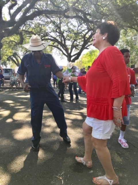 photo: dancing at Zydeco Breakfast